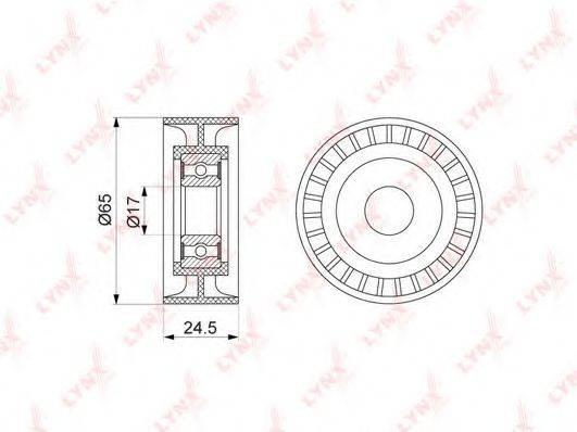 LYNXAUTO PB5139 Натяжной ролик, поликлиновой  ремень