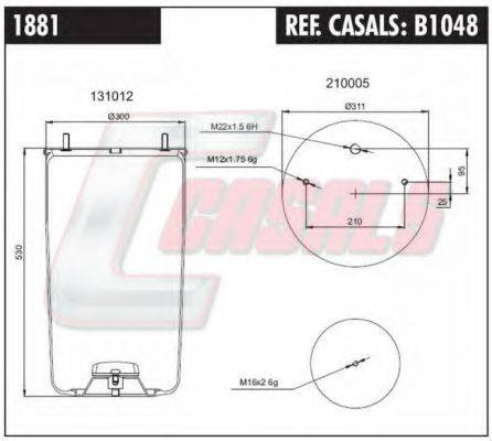 CASALS B1048 Кожух пневматической рессоры