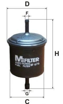 MFILTER BF676 Топливный фильтр