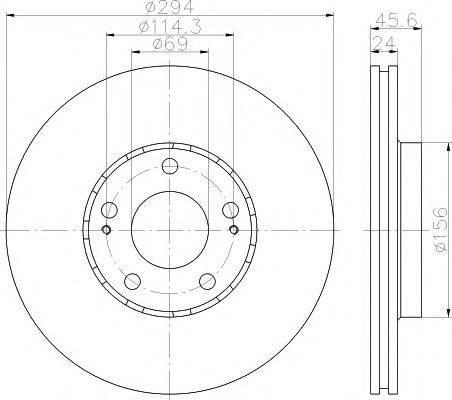 HELLA PAGID 8DD355111571 Тормозной диск