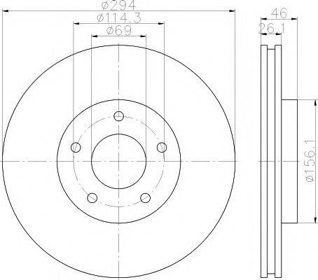 HELLA PAGID 8DD355115911 Тормозной диск