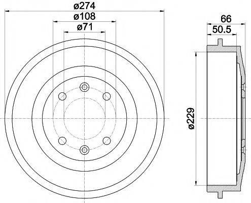 HELLA PAGID 8DT355301231 Тормозной барабан