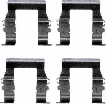 HELLA PAGID 8DZ355202551 Комплектующие, колодки дискового тормоза