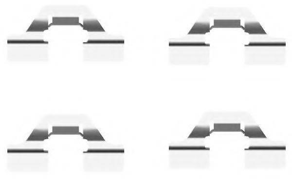 HELLA PAGID 8DZ355203231 Комплектующие, колодки дискового тормоза