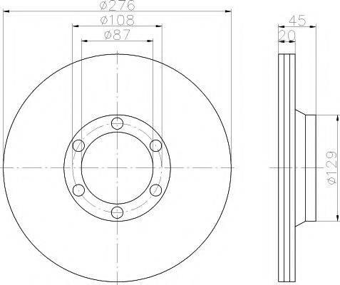 HELLA PAGID 8DD355101161 Тормозной диск