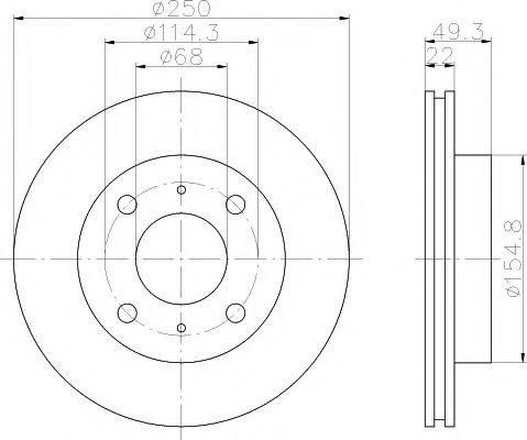 HELLA PAGID 8DD355102031 Тормозной диск