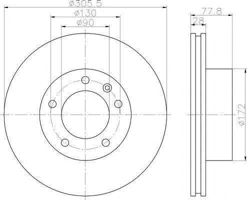 HELLA PAGID 8DD355108931 Тормозной диск