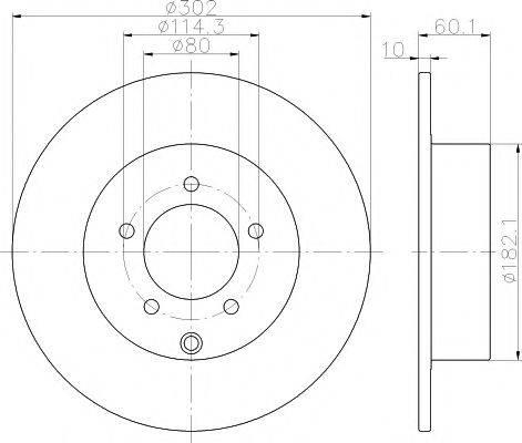 HELLA PAGID 8DD355119451 Тормозной диск