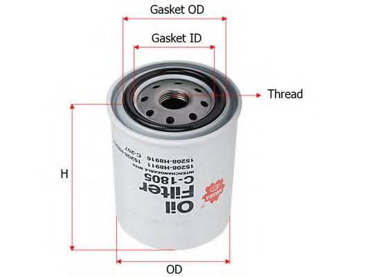 SAKURA AUTOMOTIVE C1805 Масляный фильтр