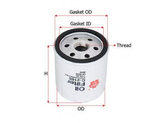 SAKURA AUTOMOTIVE C2105 Масляный фильтр
