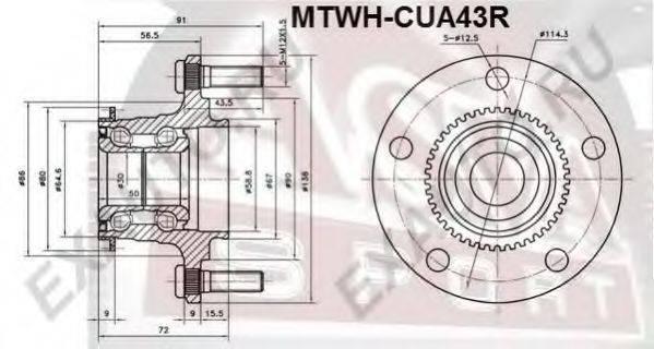 Ступица колеса ASVA MTWH-CUA43R