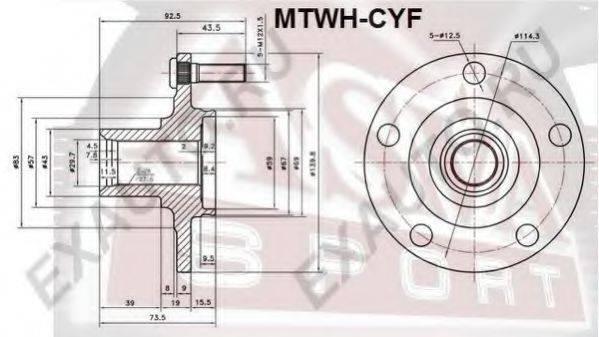 ASVA MTWHCYF Ступица колеса