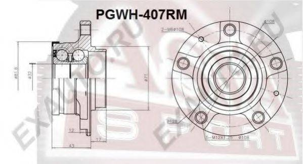 ASVA PGWH407RM Ступица колеса