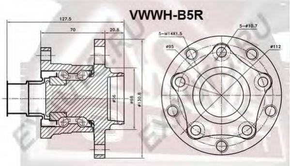 ASVA VWWHB5R Ступица колеса
