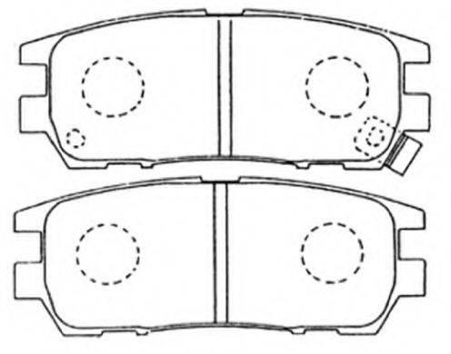 ASVA AKD1152 Комплект тормозных колодок, дисковый тормоз