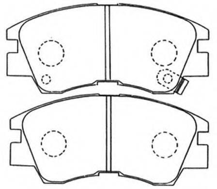 ASVA AKD3172 Комплект тормозных колодок, дисковый тормоз