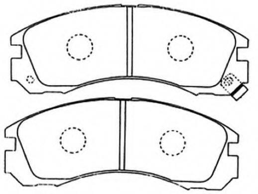 ASVA AKD3233 Комплект тормозных колодок, дисковый тормоз