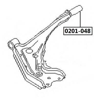 ASVA 0201048 Подвеска, рычаг независимой подвески колеса
