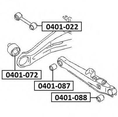 ASVA 0401072 Подвеска, рычаг независимой подвески колеса