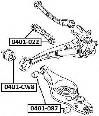 ASVA 0401087 Подвеска, рычаг независимой подвески колеса