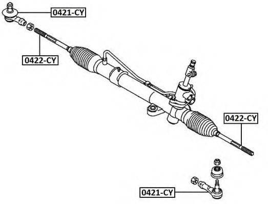 ASVA 0421CY Наконечник поперечной рулевой тяги