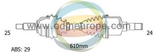ODM-MULTIPARTS 18161451 Приводной вал