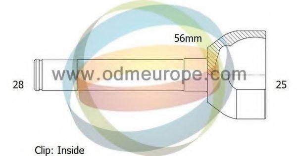 ODM-MULTIPARTS 12080606 Шарнирный комплект, приводной вал