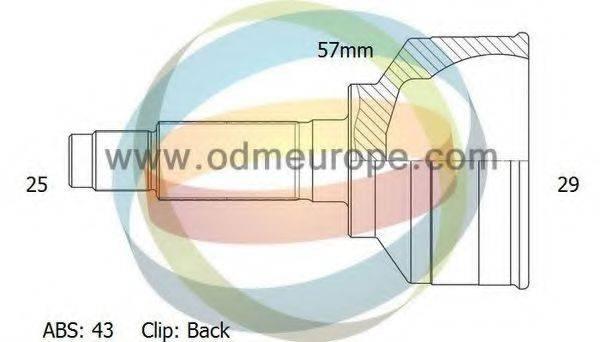 ODM-MULTIPARTS 12080674 Шарнирный комплект, приводной вал