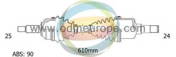 ODM-MULTIPARTS 18161452 Приводной вал