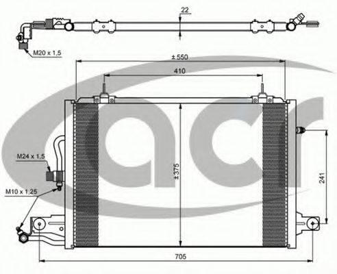 ACR 300044 Конденсатор, кондиционер
