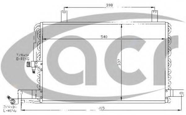 ACR 300366 Конденсатор, кондиционер