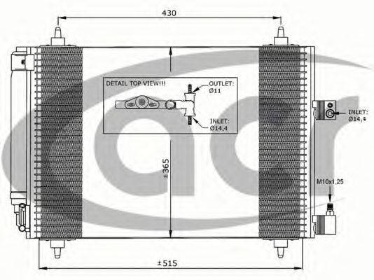 ACR 300633 Конденсатор, кондиционер