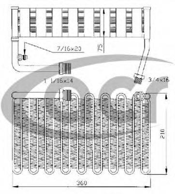 ACR 310101 Испаритель, кондиционер