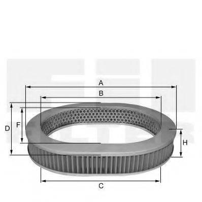 FIL FILTER HP5008 Воздушный фильтр
