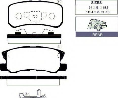 GOODWILL 2024R Комплект тормозных колодок, дисковый тормоз