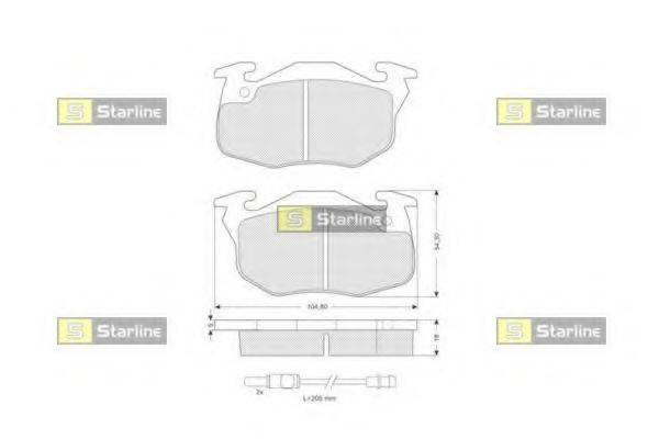 STARLINE BDS020 Комплект тормозных колодок, дисковый тормоз