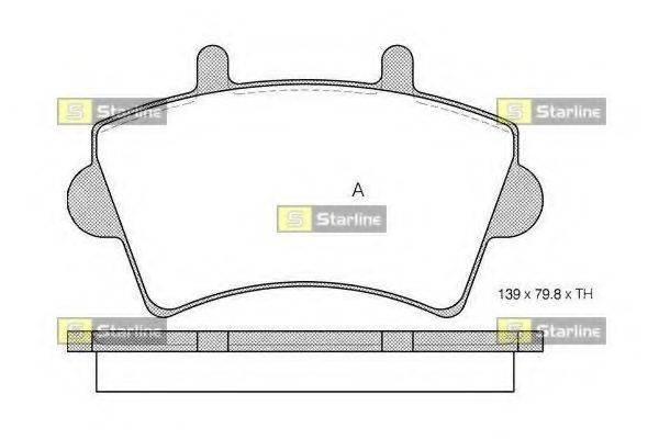 STARLINE BDS201 Комплект тормозных колодок, дисковый тормоз