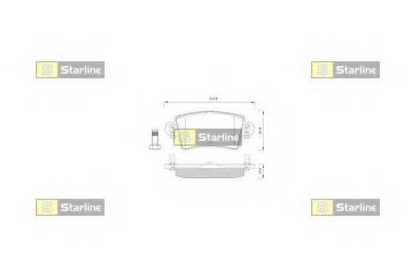 STARLINE BDS251 Комплект тормозных колодок, дисковый тормоз