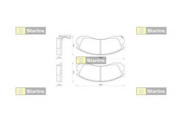 STARLINE BDS348 Комплект тормозных колодок, дисковый тормоз
