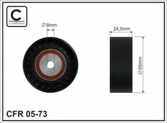 CAFFARO 0573 Паразитный / ведущий ролик, поликлиновой ремень