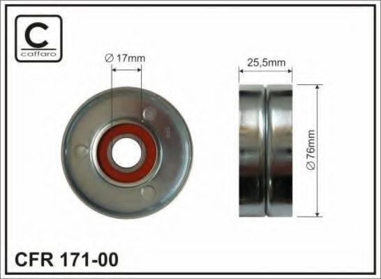 CAFFARO 17100 Натяжной ролик, поликлиновой  ремень