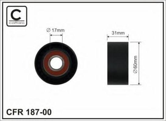 CAFFARO 18700 Натяжной ролик, поликлиновой  ремень