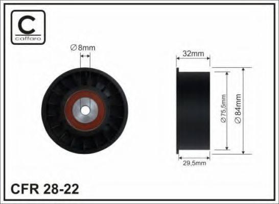 CAFFARO 2822 Паразитный / Ведущий ролик, зубчатый ремень