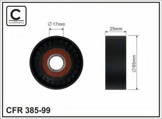 CAFFARO 38599 Натяжной ролик, поликлиновой  ремень
