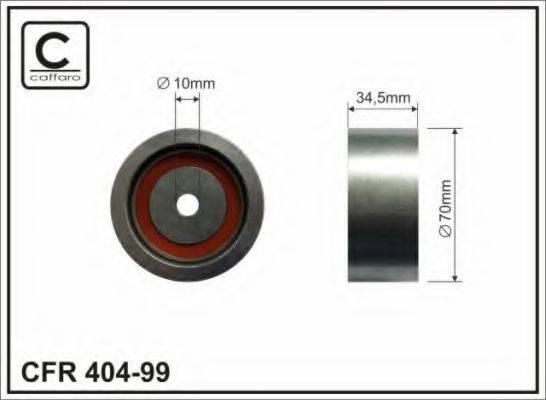 CAFFARO 40499 Паразитный / Ведущий ролик, зубчатый ремень