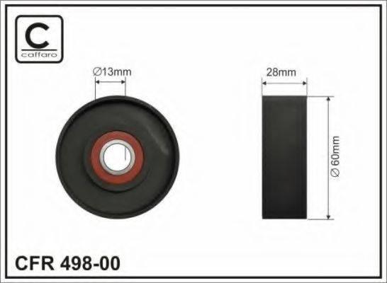 CAFFARO 49800 Натяжной ролик, поликлиновой  ремень