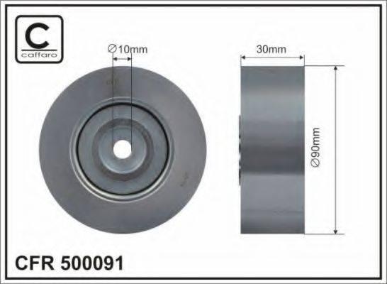 CAFFARO 500091 Паразитный / ведущий ролик, поликлиновой ремень