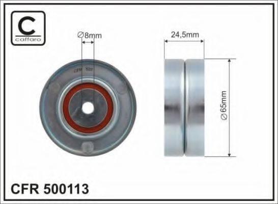 CAFFARO 500113 Паразитный / ведущий ролик, поликлиновой ремень