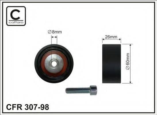 CAFFARO 30798 Паразитный / ведущий ролик, поликлиновой ремень