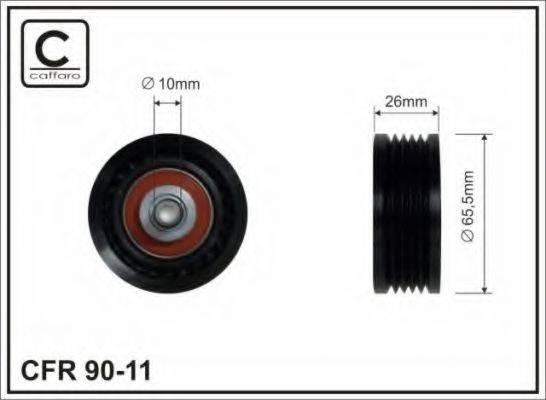 CAFFARO 9011 Паразитный / ведущий ролик, поликлиновой ремень